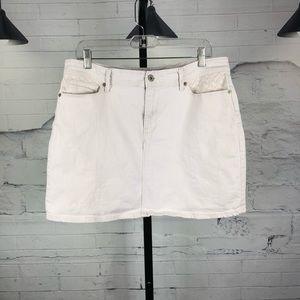 Levi's Stretchy Cream Mini Denim Skirt 140